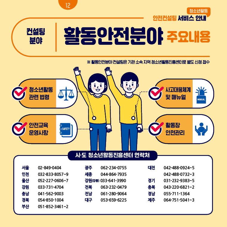 청소년활동 안전컨설팅 서비스 안내 12