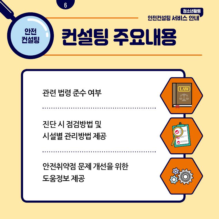 청소년활동안전컨설팅 서비스 안내 카드뉴스 6