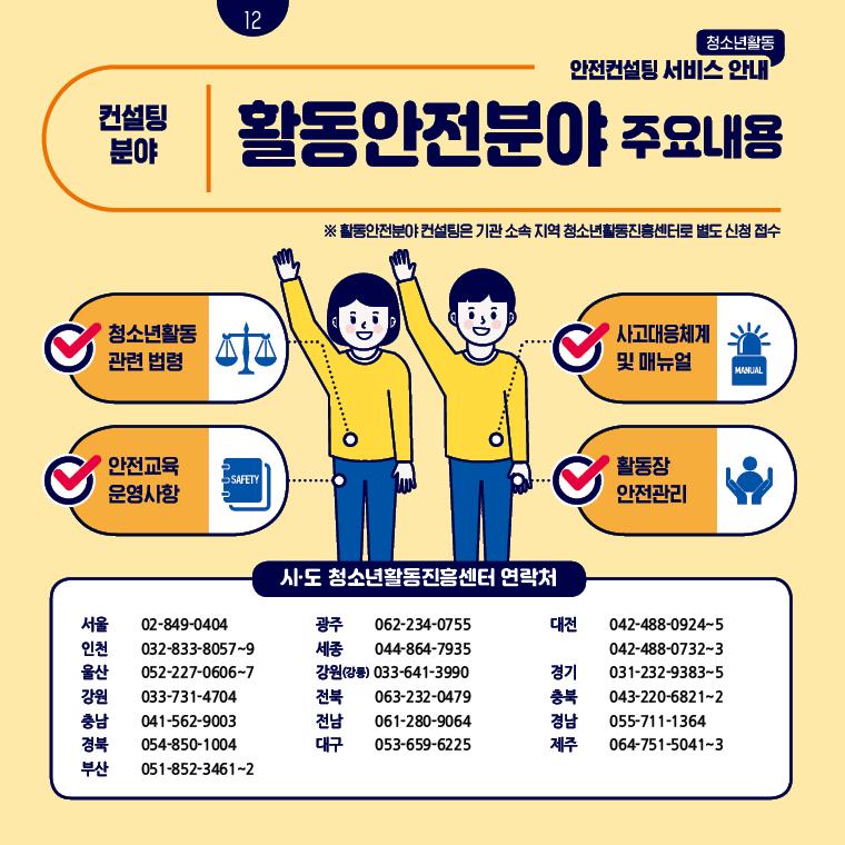 청소년활동안전컨설팅 서비스 안내 카드뉴스 12